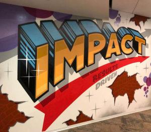 Graffiti of word Impact