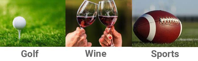 Golf Wine Sports